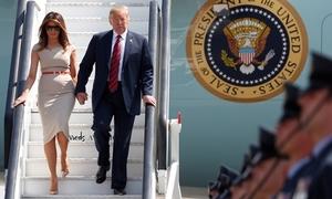 'Hàng rào thép' bảo vệ Trump trong chuyến thăm Anh