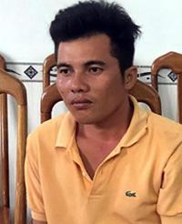 Lê Thái Châu khi bị bắt tại Cà Mau. Ảnh: Phúc Hưng