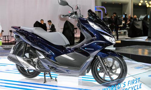 Honda PCX Hybrid ra mắt tại Bangkok Motor Show 2018. Ảnh: Cao Tuấn.