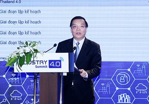 Bộ trưởng Chu Ngọc Anh tại Diễn đàncấp cao và Triển lãm quốc tế về công nghiệp 4.