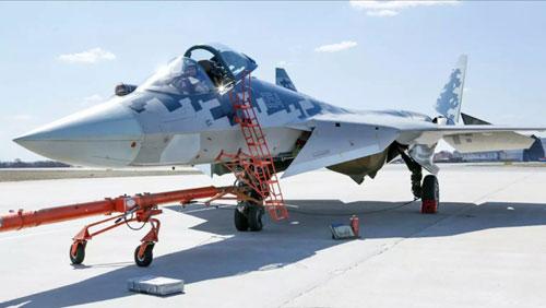 Một tiêm kích Su-57 được Nga chế tạo để thử nghiệm và đánh giá. Ảnh: Twitter.