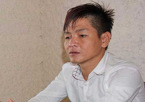 Nguyễn Quang Thành tại cơ quan điều tra. Ảnh: Hải Bình.