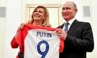 Tổng thống Croatia tặng áo bóng đá cho Putin