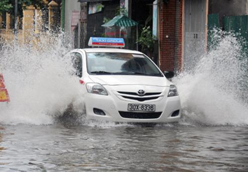 Các khu vực trũng ở Hà Nội có thể ngập trong đợt mưa từ ngày 14 đến 20/7. Ảnh: