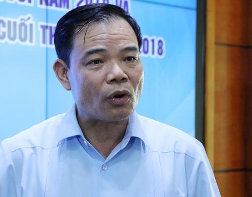 Trưởng Ban chỉ đạo Trung ương Phòng chống thiên tai Nguyễn Xuân Cường. Ảnh: Võ Hải.