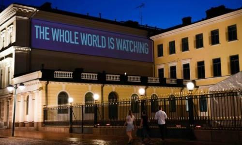 Dinh tổng thống ở Helsinki, Phần Lan, nơi lãnh đạo Nga  Mỹ sẽ gặp mặt. Ảnh: AFP.