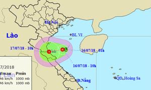Áp thấp nhiệt đới xuất hiện ngay gần bờ biển miền Trung
