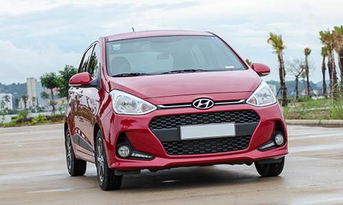 Hyundai Grand i10, xe bán chạy nhất Việt Nam nửa đầu 2018. Ảnh: Lương Dũng.