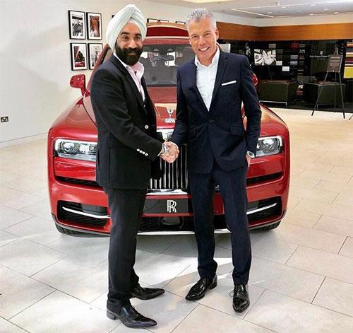 Reuben Singh là khách hàng quen thuộc của thương hiệu siêu sang Anh quốc. Ảnh: Twitter.