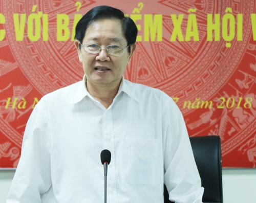 Bộ trưởng Nội vụ Lê Vĩnh Tân. Ảnh: Võ Hải.