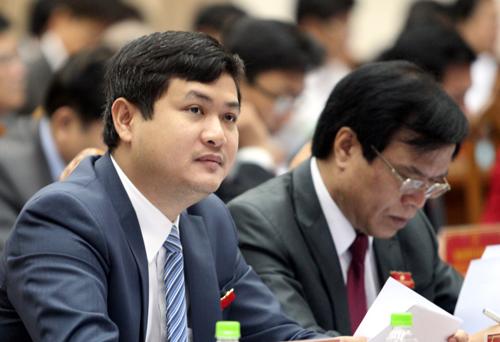 Ông Lê Phước Hoài Bảo trong một cuộc họp HĐND tỉnh Quảng Nam. Ảnh: Đắc Thành.