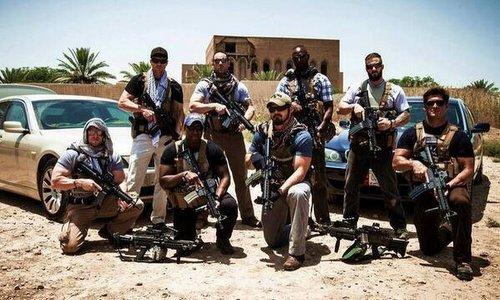 Lính đánh thuê Mỹ tại Iraq hồi năm 2016. Ảnh: Twitter.