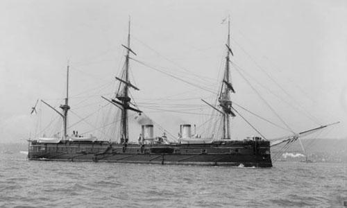 Tàu chiến Dimitrii Donskoi bị đánh chìm năm 1905 trong chiến tranh Nga - Nhật. Ảnh: Shinil Group.