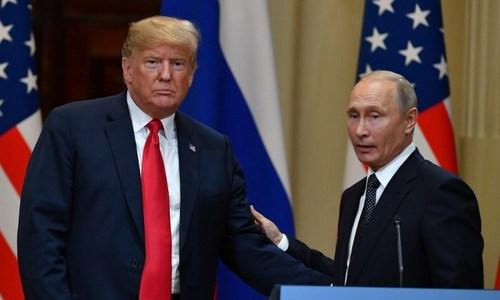 Tổng thống Trump và Tổng thống Putin tại hội nghị thượng đỉnh hôm 16/7. Ảnh: Reuters.