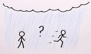 Nên đi bộ hay chạy khi trời mưa để ít bị ướt nhất?