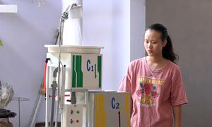 Nữ sinh chế tạo máy lọc nước nhiễm phèn ở Khánh Hòa
