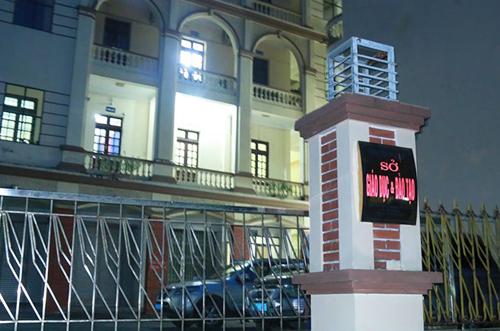 Sở Giáo dục Đào tạo Hà Giang, nơi đoàn kiểm tra của Bộ Giáo dục có những ngày làm việc xuyên đêm để rà soát lại điểm thi. Ảnh: Quỳnh Trang.