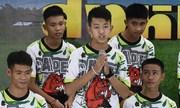 Cuộc họp báo đầu tiên của đội bóng nhí Thái Lan sau khi được giải cứu
