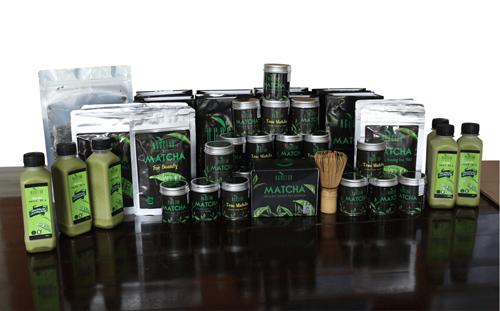 Bộ sản phẩm matcha đa dạng của Ngọc sản xuất từ chè Tân Cương. Ảnh: ngoctra.com