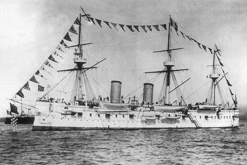 Tuần dương hạm Dimitrii Donskoi khi mới hạ thủy. Ảnh: Wiki.