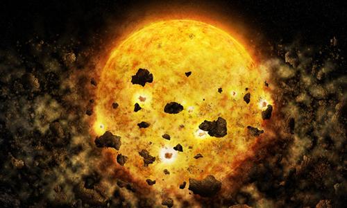 Minh họaquá trình ngôi sao trẻRW Aur A nuốt mảnh vụn của hành tinh. Ảnh: NASA/CXC/M.Weiss.