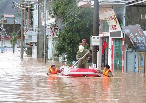 Hoàn lưu bão Sơn Tinh gây mưa lớn tại Quảng Ninh. Ảnh minh họa: Minh Cương.