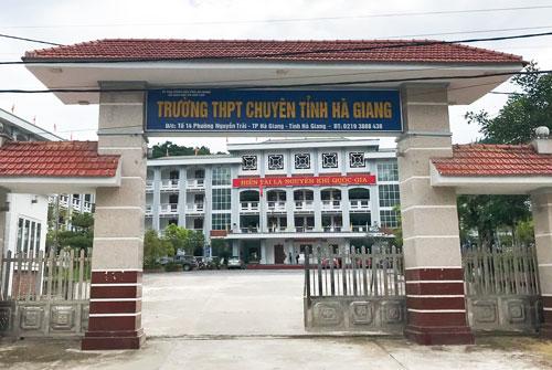 Trường THPT chuyên Hà Giang, nơi bị phát hiện có nhiều thí sinh được nâng điểm. Ảnh: Dương Tâm.