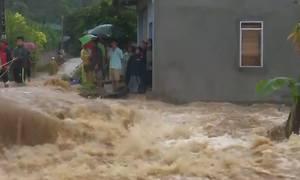 Nhiều tỉnh thiệt hại nặng dù bão Sơn Tinh suy yếu khi vào đất liền