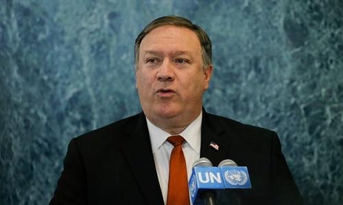 Ngoại trưởng Mỹ tại trụ sở Liên Hợp Quốc hôm 20/7. Ảnh: AFP.