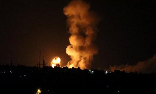 Một vụ nổ ở Gaza sau đợt tấn công của Israel ngày 20/7. Ảnh: Reuters.