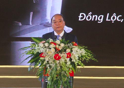 Thủ tướng Nguyễn Xuân Phúc phát biểu. Ảnh: Đức Hùng