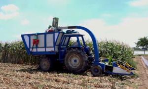 Nông dân An Giang chế tạo máy chặt bắp ba trong một