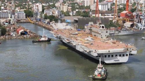 Tàu sân bay Vikrant do Ấn Độ tự chế tạo. Ảnh: MOD.