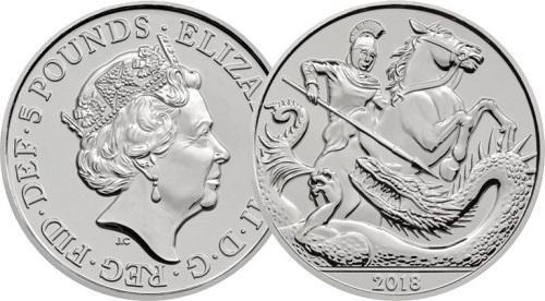 Đồng xu phát hành nhân kỷ niệm sinh nhật Hoàng tử George. Ảnh: Royal Mint.