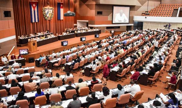 Quốc hội Cuba họp hôm 21/7. Ảnh: AFP.