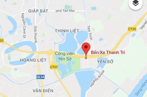 Bến xe Yên Sở (Thanh Trì) nằm trên đường vành đai 3 gây lo ngại ùn tắc giao thông tuyến này.