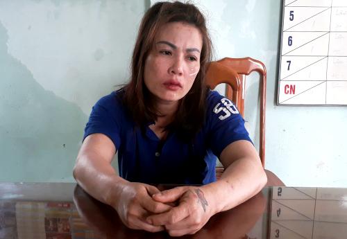 Bà Nguyễn Thị Hà tại trung tâm cai nghiện. Ảnh: Đình Văn.