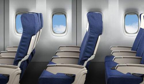 Hàng ghế máy bay thường không thẳng hàng với cửa sổ.