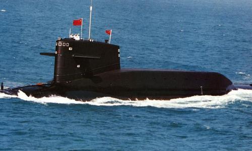 Tàu ngầm Trung Quốc hoạt động trên biển hồi năm 2014. Ảnh: Sina.