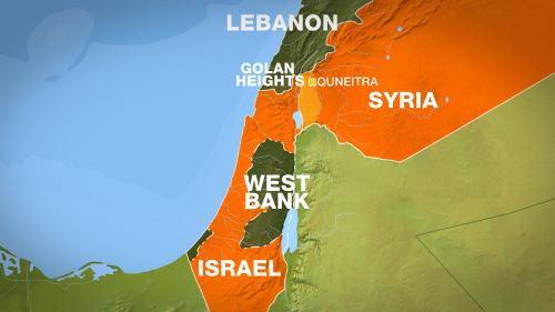 Vị trí cao nguyên Golan. Đồ họa: Al Jazeera.