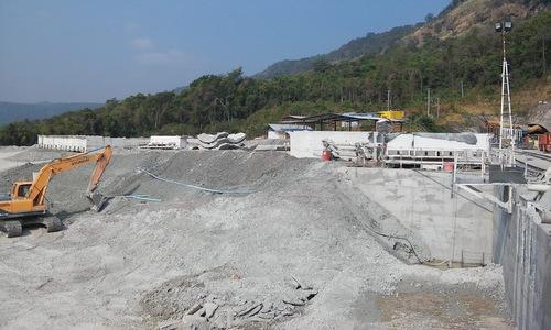 Một hạng mục xây dựng thuộc dự án thủy điện Xe Pian-Xe Namnoy năm 2016. Ảnh: NPNC.