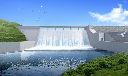 Hình mô phỏng một phần công trình thủy điện khi vận hành vào năm 2019. Ảnh: NPNC.