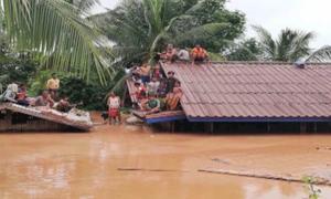 Hình ảnh tan hoang sau vỡ đập ở Lào