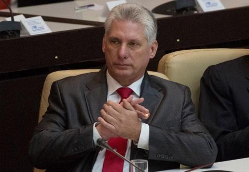 Chủ tịch Cuba trong một cuộc họp quốc hội hôm 19/4/2018 tại Havana. Ảnh: Reuters.