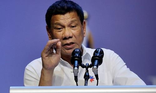 Tổng thống PhilippinesRodrigo Duterte. Ảnh: AFP.