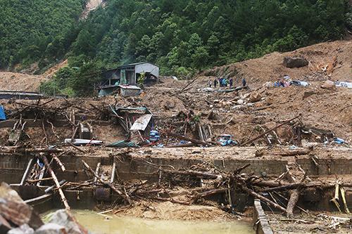 Lũ quét tại Lai Châu tháng 6/2018 gây thiệt hại hàng chục tỷ đồng. Ảnh: Ngọc Thành.