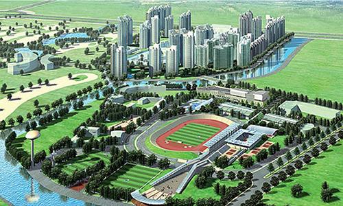 Phối cảnh khu Liên hợp thể thao Rạch Chiếc, địa điểm chính dự kiến tổ chức SEA Games 31 tại TP HCM.