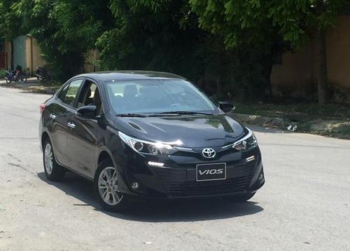Toyota Vios 2018 bắt gặp trên đường ở Hà Nội.Ảnh: Lộc Vũ.