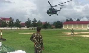 Bộ chỉ huy quân sự tỉnh Kon Tum ứng cứu người dân Lào