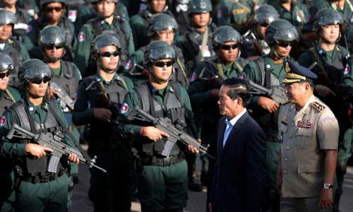 Campuchia siết chặt an ninh trong ngày bầu cử